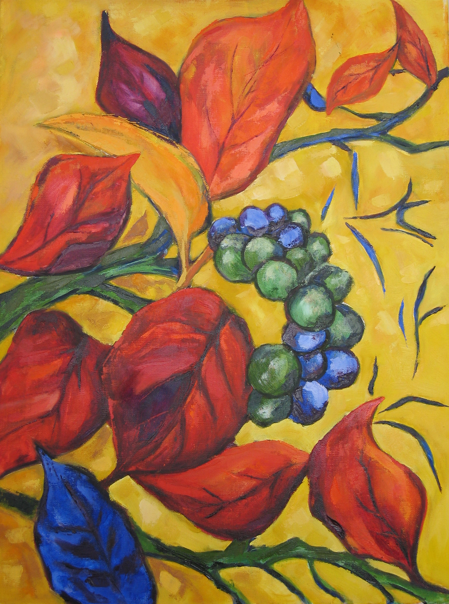 autumn-leaves-oil-on-canvas-46cm-x-60cm