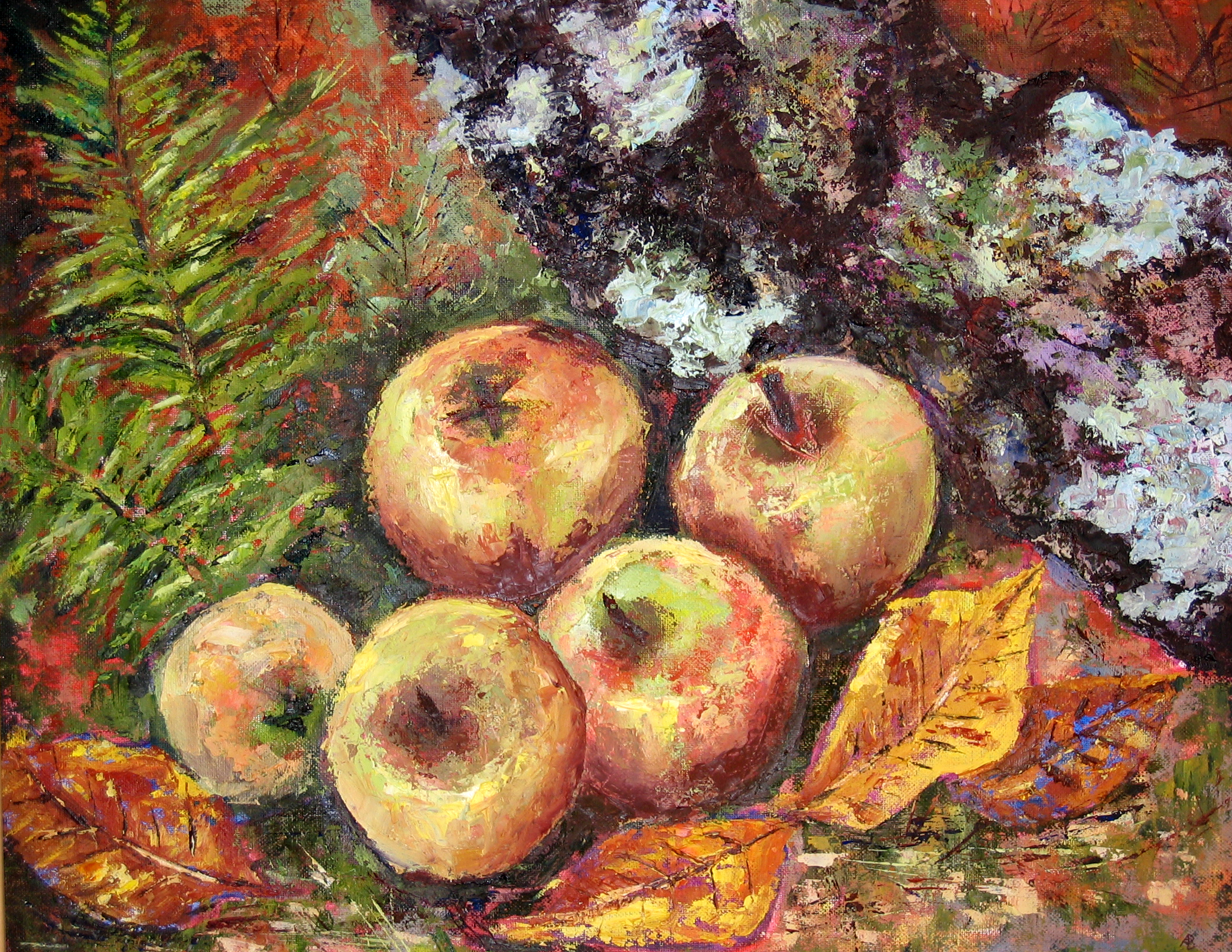 fallen-apples-oil-on-board-50cm-x-40cm